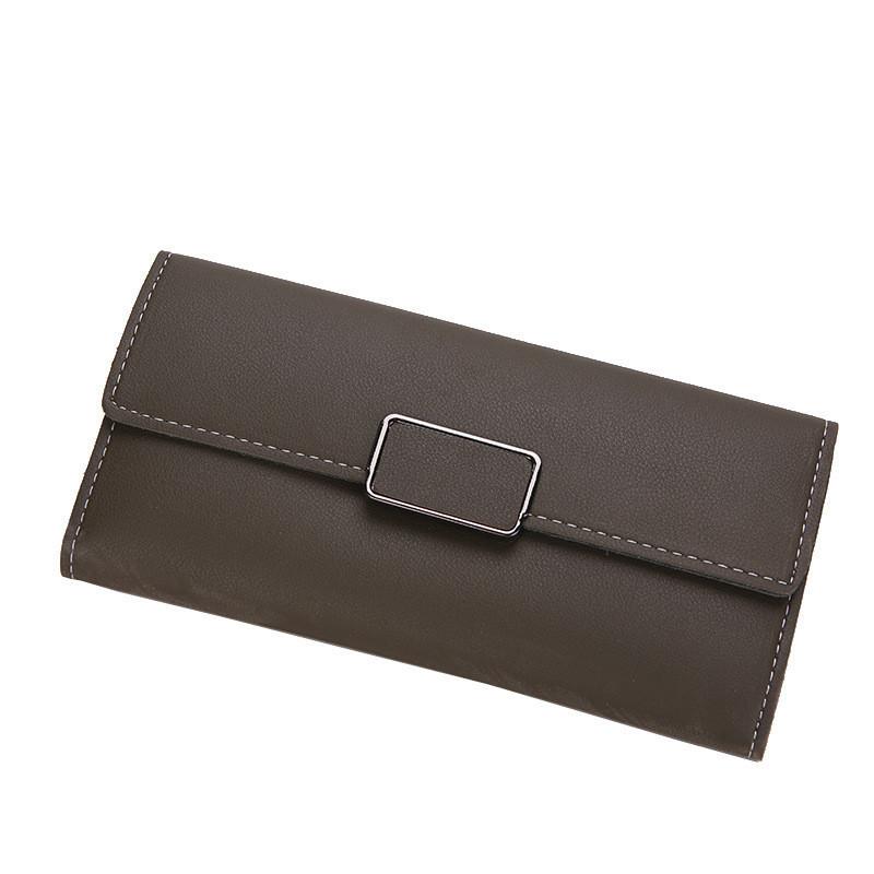 Женский кошелек портмоне серо зеленый
