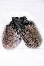 Варежки меховые детские Krolik в расцветках коричневый