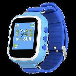 Детские умные часы с gps Q80 голубые