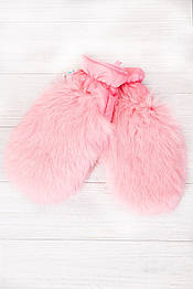 Варежки меховые детские Krolik в расцветках розовый