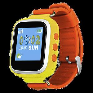 Детские умные часы с gps Q80 желтые