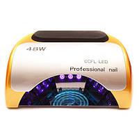 Лампа для маникюра Professional 48W Золотая CCFL+LED, фото 1