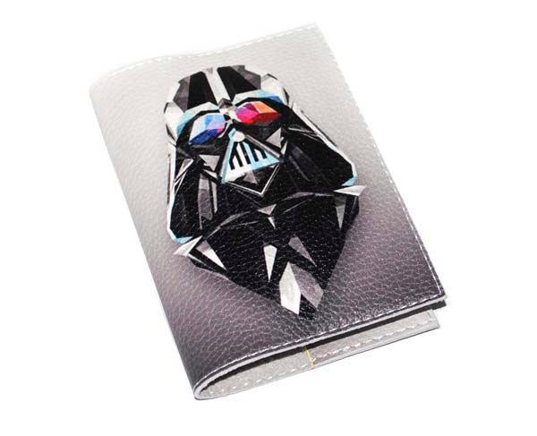 Кожаная обложка для паспорта -Дарт Вейдер-