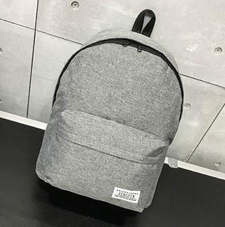 Женский рюкзак серый тканевый вместительный опт