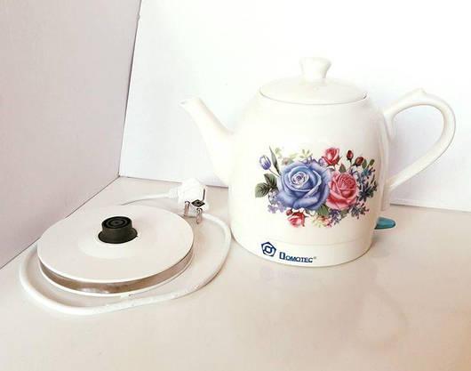 Электрочайник Керамическии 1.5 литра Электрический Чайник, фото 3