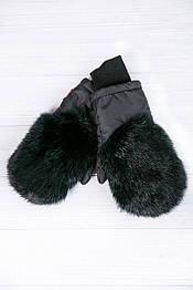 Варежки меховые детские Krolik в расцветках черный