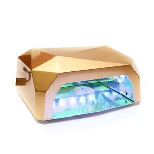 Лампа для маникюра Diamond 36W Золотая LED+CCFL