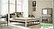 Металлическая кровать Анжелика на деревянных ножках ТМ «Металл-Дизайн», фото 4