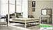 Металлическая кровать Анжелика на деревянных ножках ТМ «Металл-Дизайн», фото 6