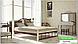 Металлическая кровать Анжелика на деревянных ножках ТМ «Металл-Дизайн», фото 7
