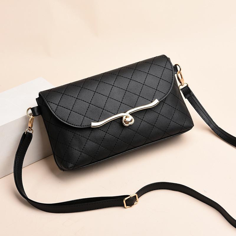 Женская маленькая  сумочка клатч черная через плечо