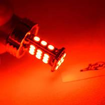 Светодиодная авто лампа с обманкой, серии SLP 30-3020 LED с цоколем 1157(P21/5W)(BAY15D) 9-30V Красный, фото 3