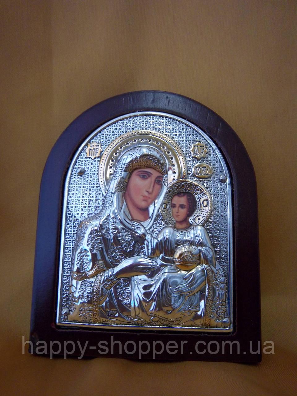 """Икона """"Божья Матерь Иерусалимская"""" 9 х 7,5 (см)"""