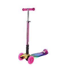 Самокат Bugs® Hyper 2 (складная ручка) Chameleon Pink (Розовый)