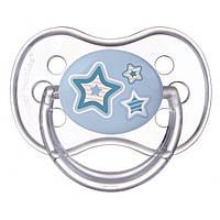 Пустышка  силиконовая круглая 6-18 м Newborn baby 22/563