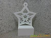 Новогодняя игрушка Звезда из пенопласта  35 см. Толщ 1,8см от 5шт