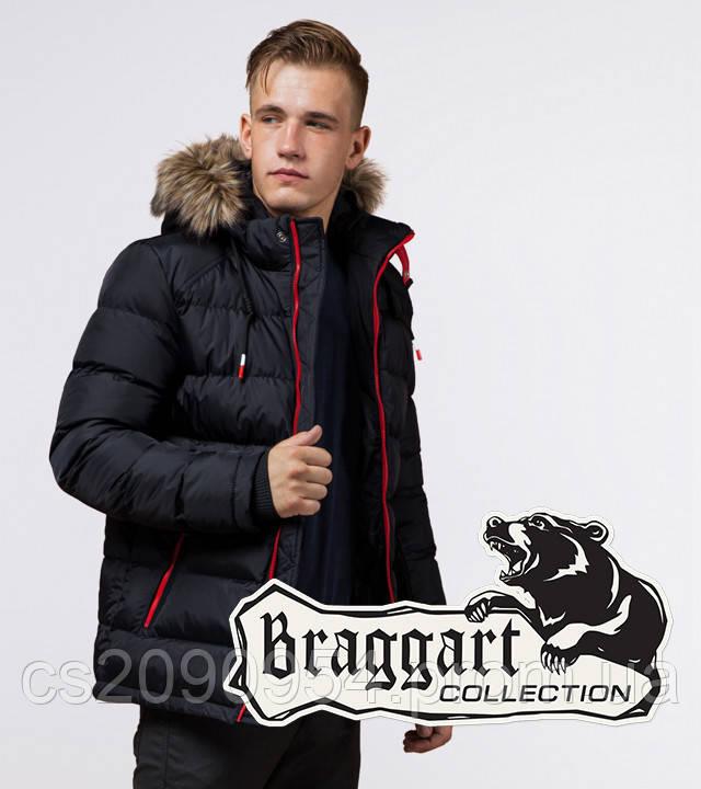 Braggart Aggressive 38268   Мужская зимняя куртка т.синий-красный
