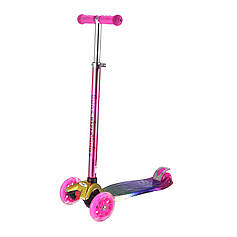 Самокат Bugs® Hyper Хамелеон Розовый