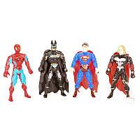 Супергерой 18см, 4вида(СП, AV,BM), свет, на бат(таб