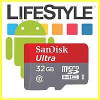 Карта памяти SanDisk Ultra microSDHC 32GB + SD-adapter