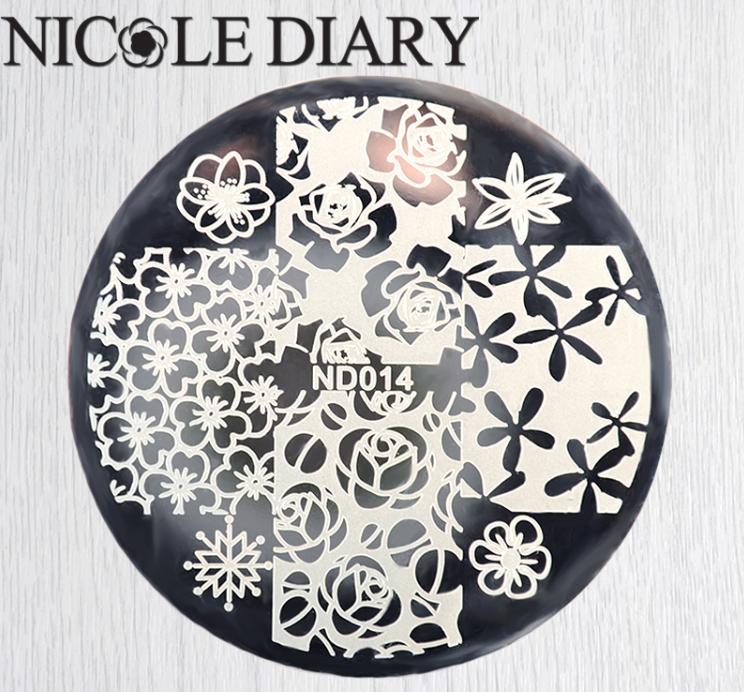 Диск для стемпинга Nicole Diary ND014