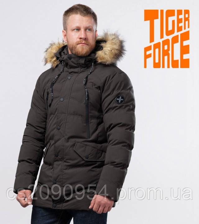 Tiger Force 72160   Теплая мужская куртка кофе