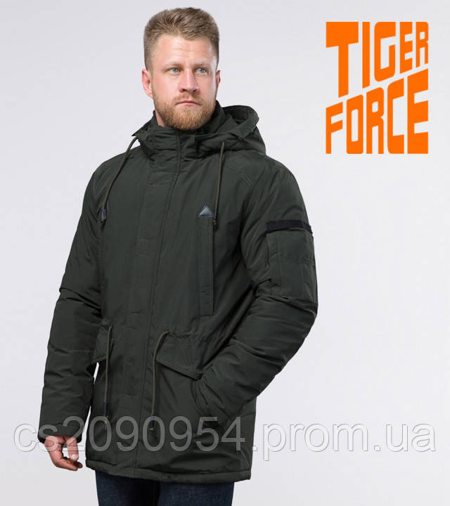 Tiger Force 71360   Зимняя мужская парка темно-зеленая