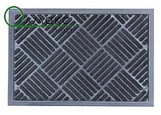 Придверный коврик 40*60 см Косые полосы черный