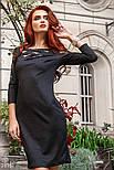 Черное платье миди с напылением, фото 3