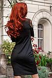 Черное платье миди с напылением, фото 4