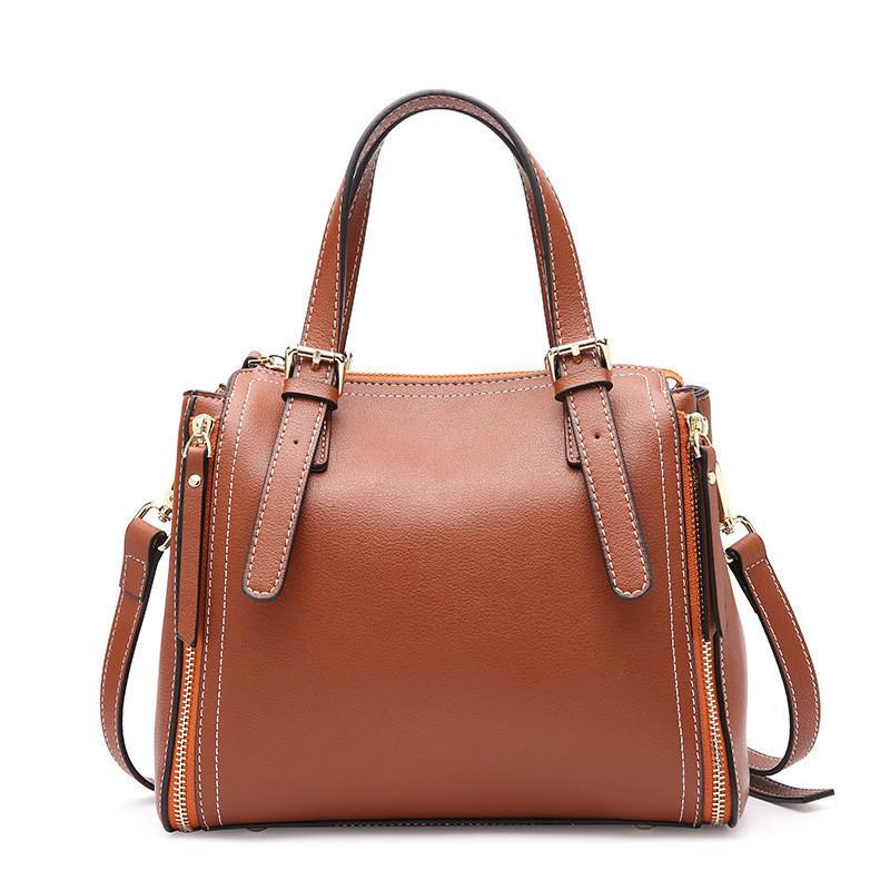 24abc8f55351 Женская сумка стильная кожаная коричневая купить по выгодной цене в ...