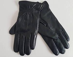 Мужские кожаные перчатки на утеплители