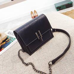 Женская сумочка маленькая синяя через плечо на металлической защелке опт