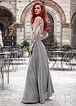 Вечернее платье макси с нитью люрекса, фото 2