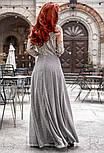 Вечернее платье макси с нитью люрекса, фото 3