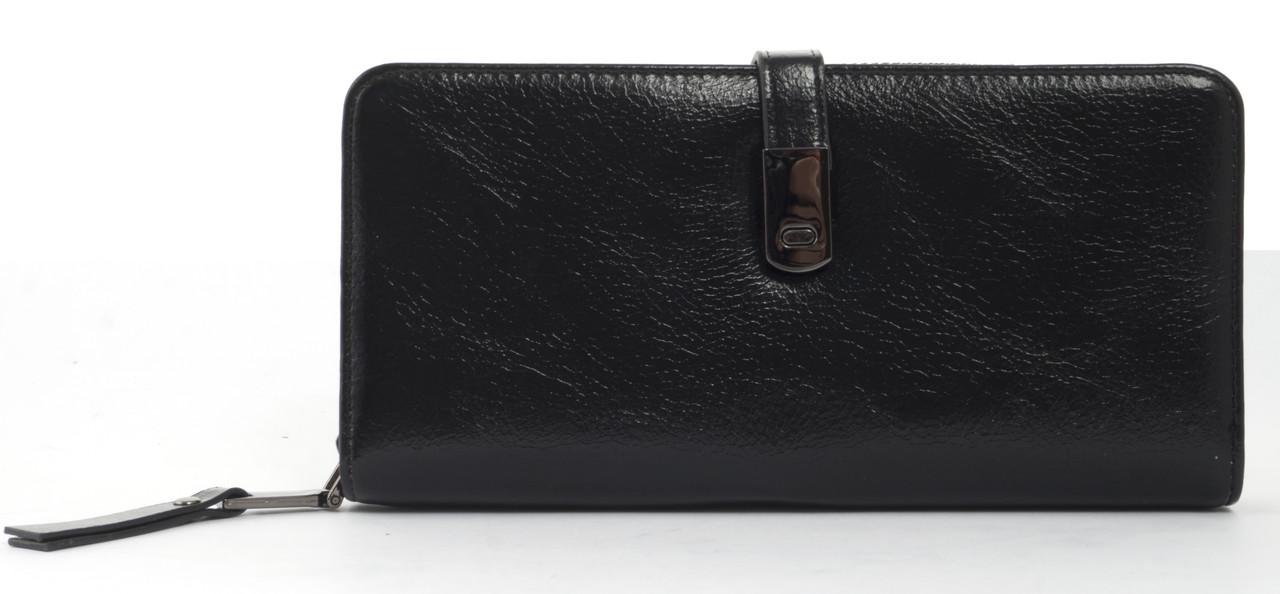 Вместительный женский кошелек барсетка с картхолдеромSaralyn art. CK-1335 черный