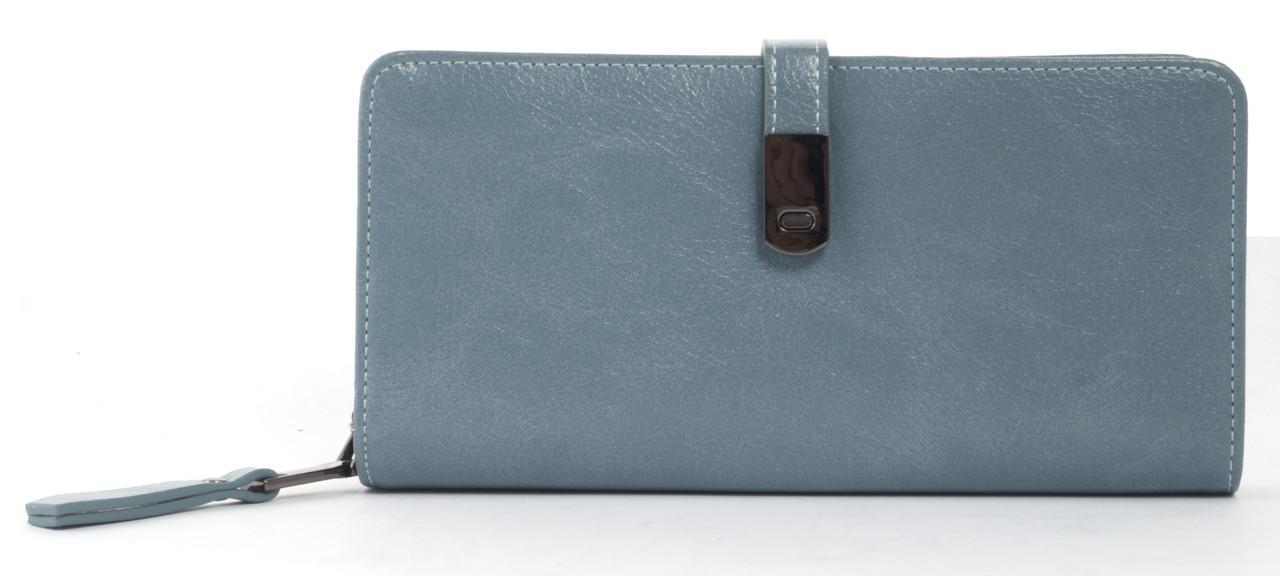 Вместительный женский кошелек барсетка с картхолдеромSaralyn art. CK-1335 светло синий