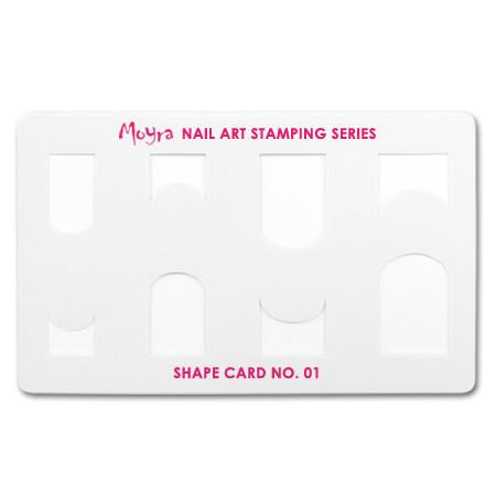 Трафарет для стемпинга Moyra 01 Shape card