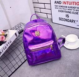 Женский рюкзак стильный цвета фиолетовый хамелеон опт