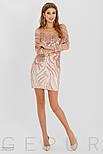 Розовое платье мини с пайетками, фото 2