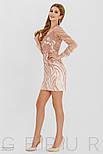 Розовое платье мини с пайетками, фото 3