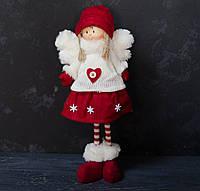 Текстильная игрушка-подарок Девочка-ангелочек красная, фото 1