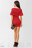 Вечернее красное платье мини с воланами на рукавах, фото 4