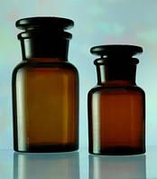 Бутылка для реактивов с пришлифованной пробкой,темное стекло