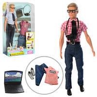 Кукла DEFA 8385 Кен 30см (2 вида, одежда, ноут, фотокамера)