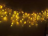 Гирлянда Бахрома 5м - цвет свечения желтый - светодиодная уличная гирлянда (Айс-Лайт) - 105 led, фото 1