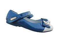 Туфли бело-голубые