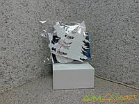 Набор новогодних игрушек Снеговик-Елочка-Заец 22 см