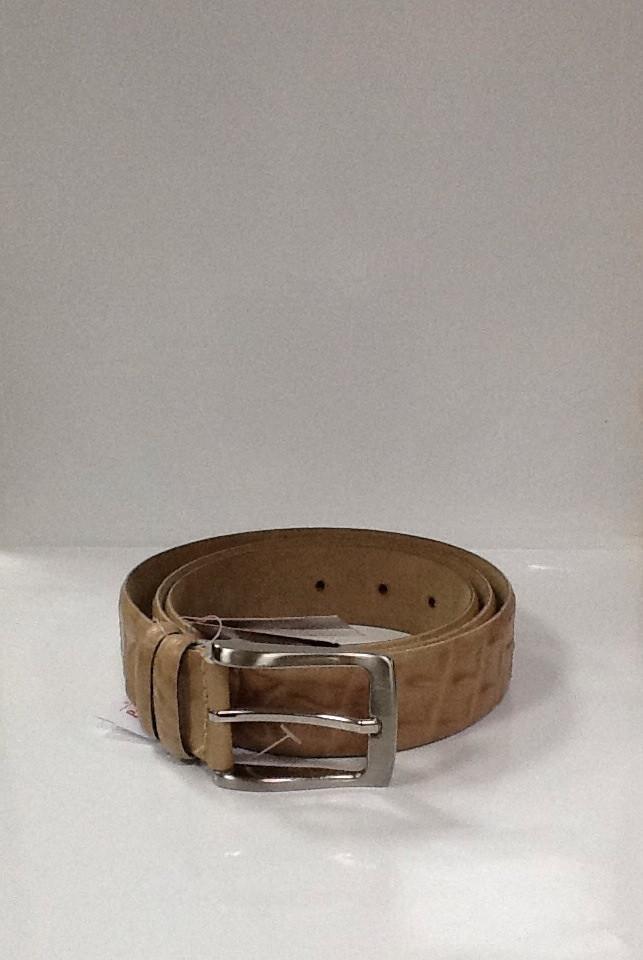 Ремень Pierre Cardin мужской кожаный бежевый, фото 1