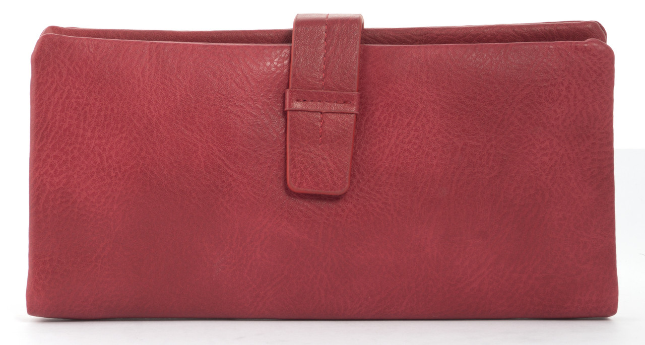Симпатичный женский кошелек барсеткас картхолдером Saralyn art. J5208 красный, фото 1